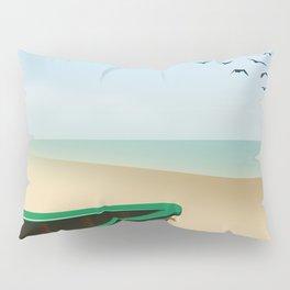 St Ives ,Cornwall ,beach travel poster, Pillow Sham