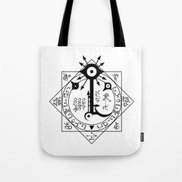 Invisible Sun Symbol on White Tote Bag