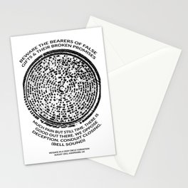 Decoded Crop Circle UFO Alien Message Beware the Bearers of False Gifts UK Stationery Cards