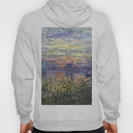 Claude Monet, French, 1840-1926 Marine View with a Sunset Hoody