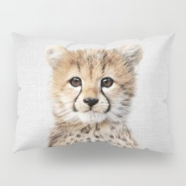 Baby Cheetah - Colorful Pillow Sham