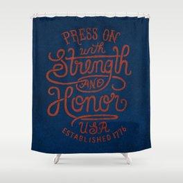 STRENGTH & HONOR Shower Curtain