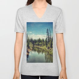 Leave The Road, Take The Trail Unisex V-Neck