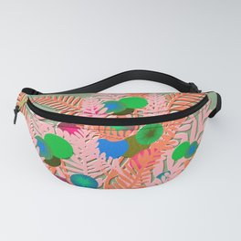 Berry Branches Pink Green Fanny Pack