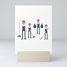 Today Is National Clean Up Day Mini Art Print