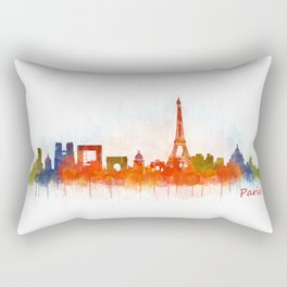 Paris City Skyline Hq v3 Rectangular Pillow