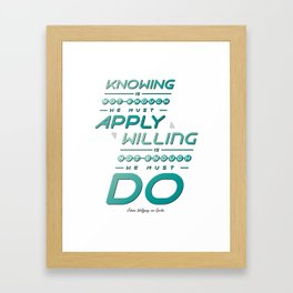Typography Quote#7 Framed Art Print