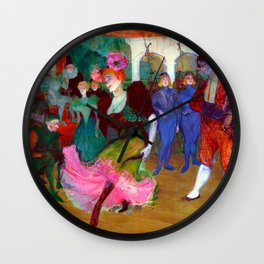 Toulouse Lautrec Marcelle Lender Dancing the Bolero Wall Clock