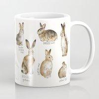 rabbits Mugs featuring Rabbits & Hares by Amy Hamilton