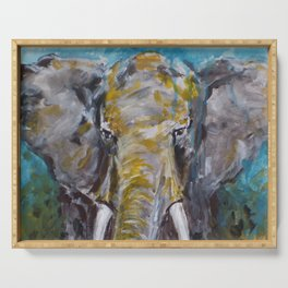 African Elephant Bull Serving Tray