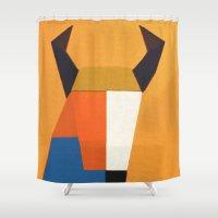 taurus Shower Curtains featuring Taurus by Fernando Vieira