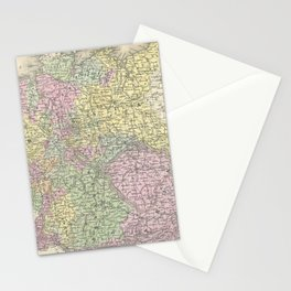 Vintage Map of Germany (1853)  Stationery Cards