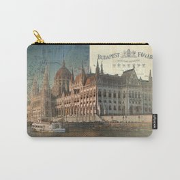Budapest Travel Map Carry-All Pouch