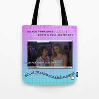 clueless Tote Bags featuring Clueless x Monet by Lisa-Roxane Lion