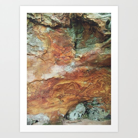 Rock Wall, Red River Gorge Art Print