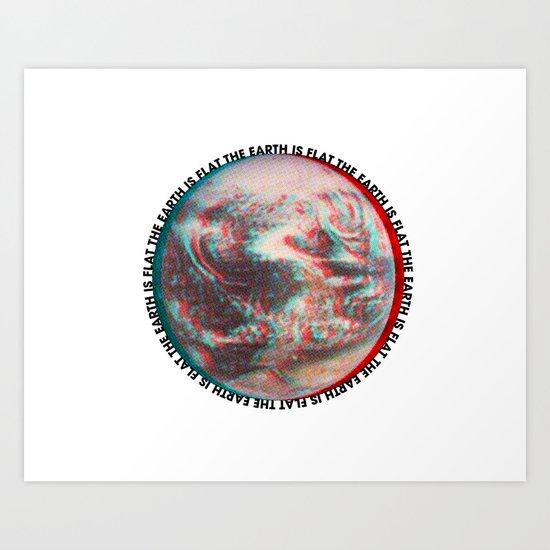 Ce N'est Pas Plat [This is Not Flat] Art Print