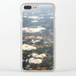 Eggy Clouds Clear iPhone Case