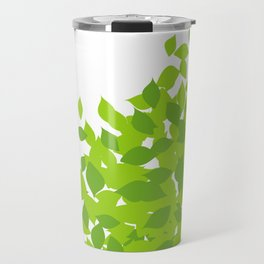 Composition with fresh green spring leaves- earth day gift Travel Mug