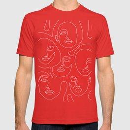 Faces in Dark T-shirt