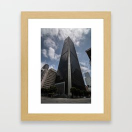 SkyScrapping Framed Art Print