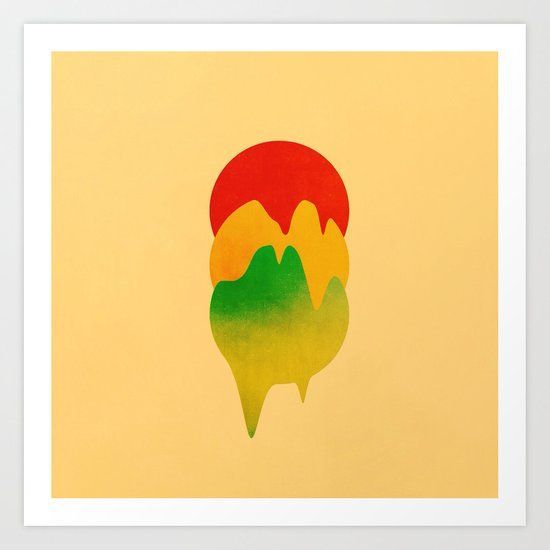 Dripping Colors Art Print