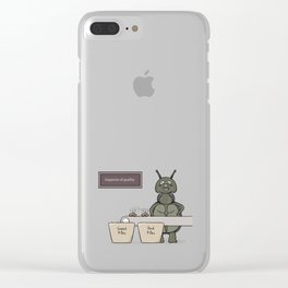bug as a inspector of quality Clear iPhone Case