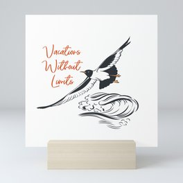 Sea adventure. Vacations without limits Mini Art Print