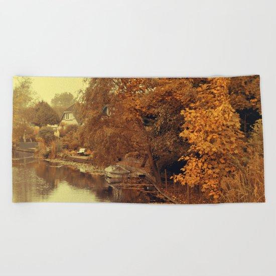 Autumn scenery #4 Beach Towel