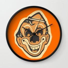 Retro Creepy Halloween Clown Face Mask Wall Clock