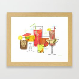 Swanky Summer Coolers Framed Art Print