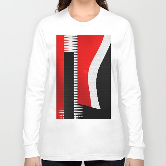 black and white meets red version 16 Long Sleeve T-shirt