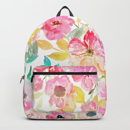 Classy watercolor hand paint floral design Backpack