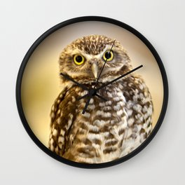 Burrowing Owl 1 Wall Clock
