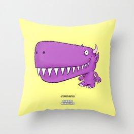 Growlasaurus Throw Pillow