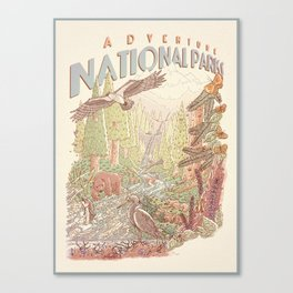 Adventure National Parks Canvas Print