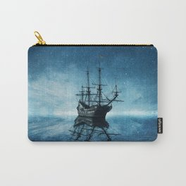 ghost ship blue reflection Carry-All Pouch