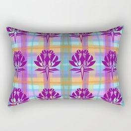 Plaid Floral Rectangular Pillow