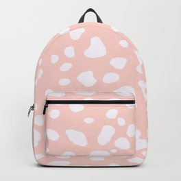 Pink Coral Spotty Dots Backpack