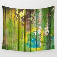 1d Wall Tapestries featuring Wood Texture 1D by Robin Curtiss