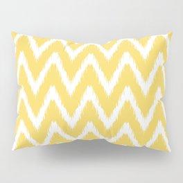 Pale Yellow Asian Moods Ikat Chevrons Pillow Sham