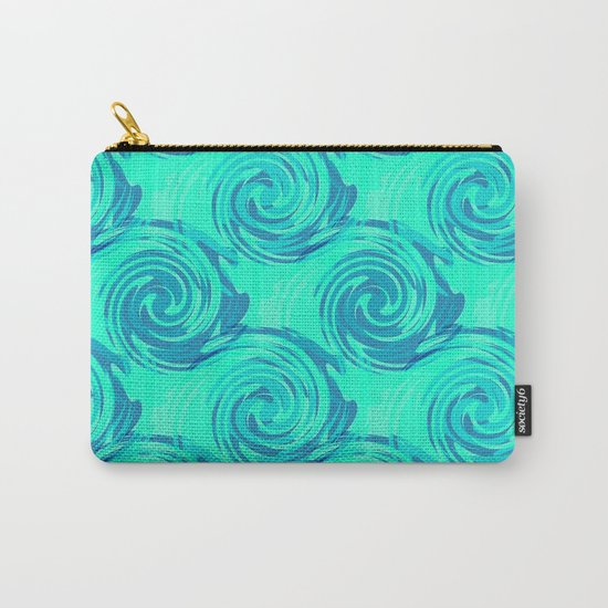 Abstract pattern in turquoise and blue tones. Carry-All Pouch