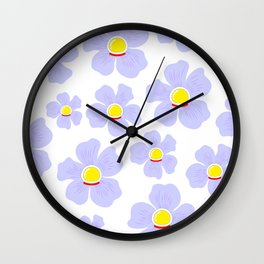 Space Odyssey | Astronaut Flower | Space Flower | Purple Flower | pulps of wood Wall Clock