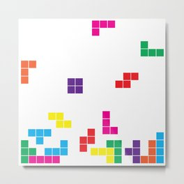 tetris on white Metal Print