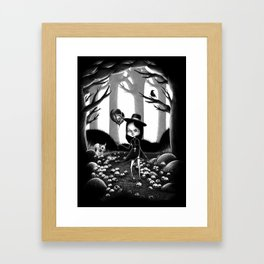 Ride on Lawn Framed Art Print