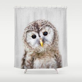 Baby Owl - Colorful Shower Curtain
