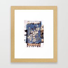 Burnt Kilim Framed Art Print