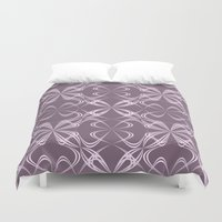 calligraphy Duvet Covers featuring Calligraphy by David Zydd - Colorful Mandalas & Abstrac