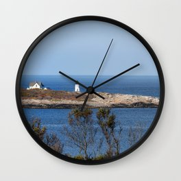 Autumn at Straitsmouth Island Lighthouse Wall Clock