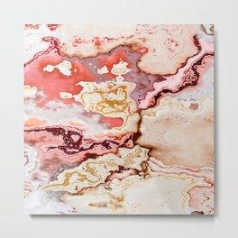 pastel marble abstract digital art Metal Print