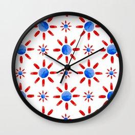 Watercolor ethnical ornament Wall Clock